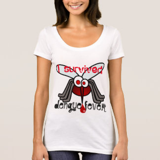 """I survived dengue fever"" with mosquito T-Shirt"