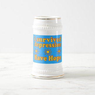 I Survived Depression - Have Hope - Inspire Faith Beer Steins