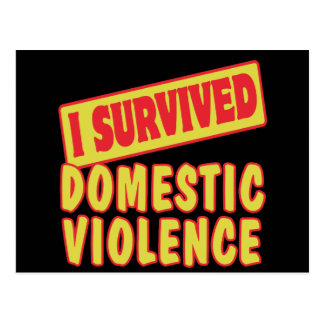 I SURVIVED DOMESTIC VIOLENCE POSTCARD