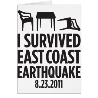 I Survived East Coast Earthquake Card