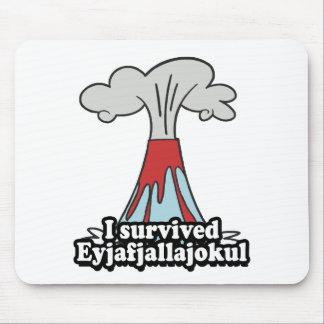 I survived Eyjafjallajokul Volcano Mouse Pad