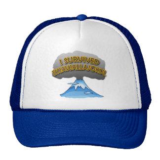 I Survived Eyjafjallajokull Volcano Tshirt Hats
