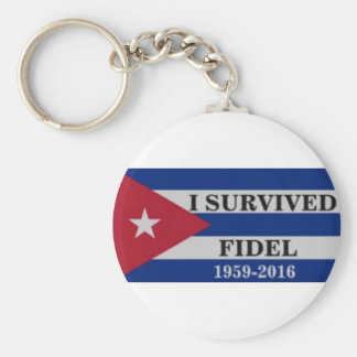 I survived Fidel Basic Round Button Key Ring