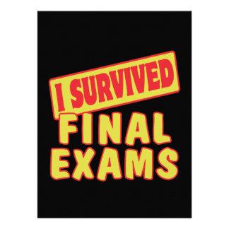I SURVIVED FINAL EXAMS CUSTOM INVITATIONS