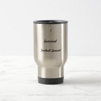 I survived football season! coffee mugs