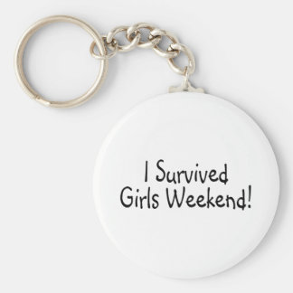 I Survived Girls Weekend Basic Round Button Key Ring
