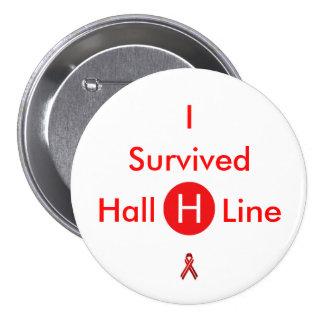 I Survived Hall H Line - A Comic Con Button