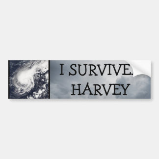 I SURVIVED HARVEY HURRICANE BUMPER STICKER
