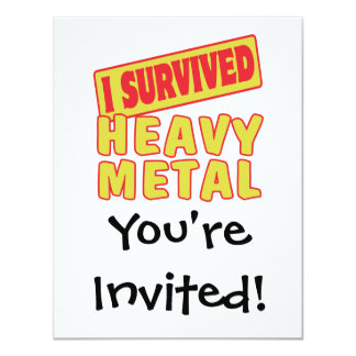I SURVIVED HEAVY METAL CARD