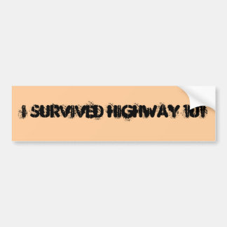 I survived highway 101 bumper sticker