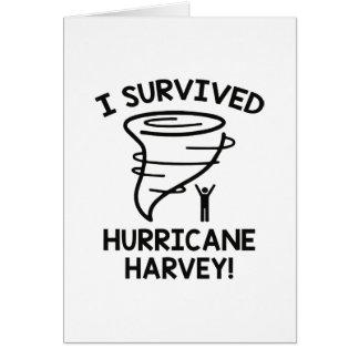 I Survived Hurricane Harvey Card