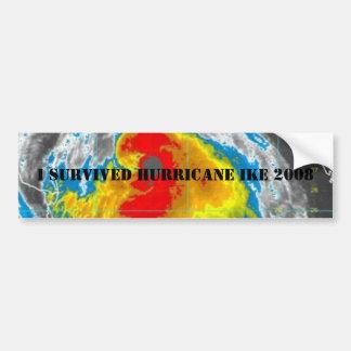 I SURVIVED HURRICANE IKE 2008 CAR BUMPER STICKER