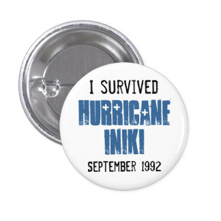 I Survived Hurricane Iniki 3 Cm Round Badge