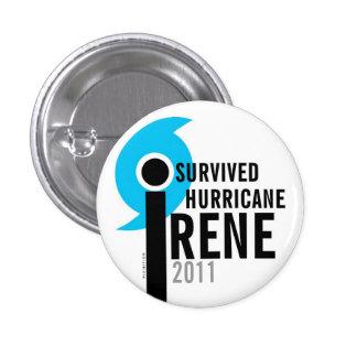 I Survived Hurricane Irene 2011 Button Eye