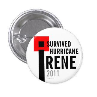I Survived Hurricane Irene 2011 Button Flag