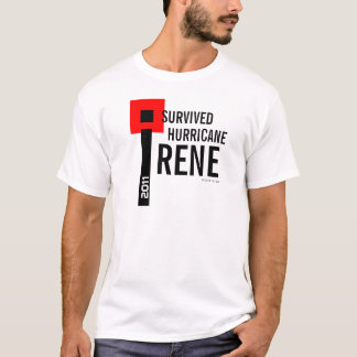 I Survived Hurricane Irene T-Shirt 7 Flag