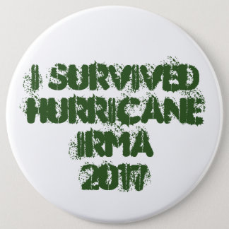 I Survived Hurricane Irma 2017 6 Cm Round Badge