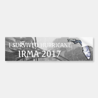 I SURVIVED HURRICANE IRMA 2017 BUMPER STICKER