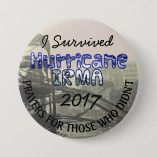 I Survived Hurricane IRMA 2017 Button