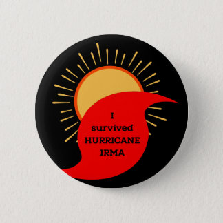 I Survived Hurricane Irma 6 Cm Round Badge