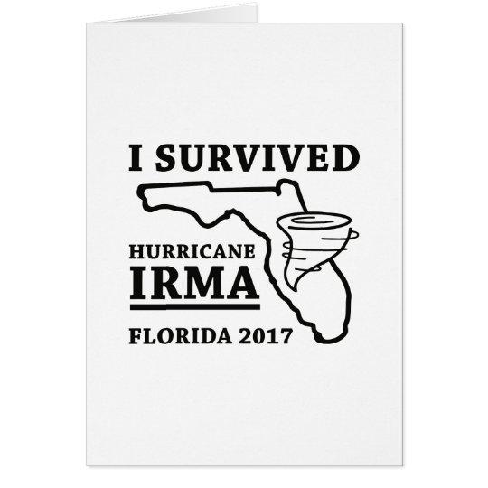 I Survived Hurricane Irma Card