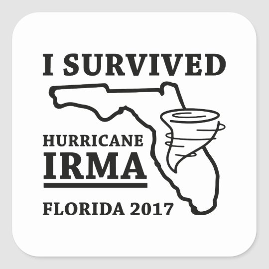 I Survived Hurricane Irma Square Sticker
