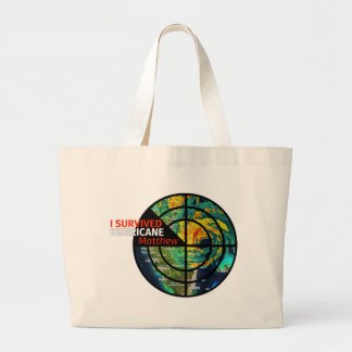 I Survived Hurricane Matthew - Storm Survivor Large Tote Bag