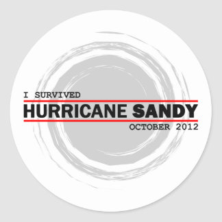 I Survived Hurricane Sandy Classic Round Sticker
