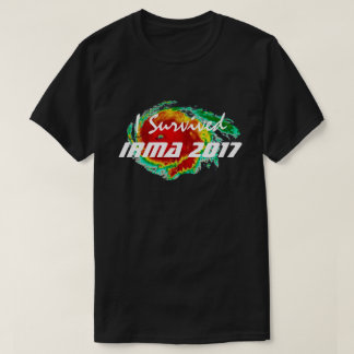 """I Survived Irma 2017"" & Hurricane Radar T-Shirt"