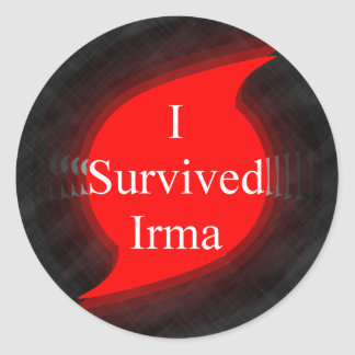 I survived Irma Classic Round Sticker