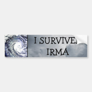 I SURVIVED IRMA HURRICANE BUMPER STICKER
