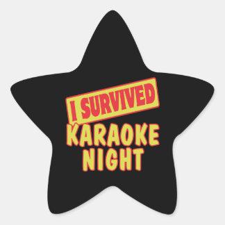 I SURVIVED KARAOKE NIGHT STAR STICKER