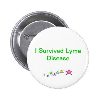 I Survived Lyme Disease 6 Cm Round Badge