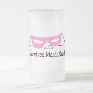 I Survived Mardi Gras Pink Mask Mug