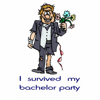 I survived my bachelor party standing photo sculpture