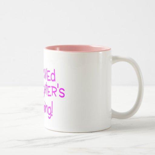 I Survived My Daughters Wedding Pink Mug