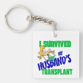 I Survived My Husband's Transplant Key Ring