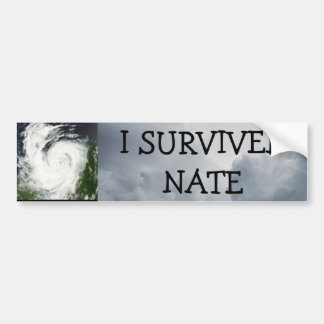 I SURVIVED Nate  HURRICANE BUMPER STICKER
