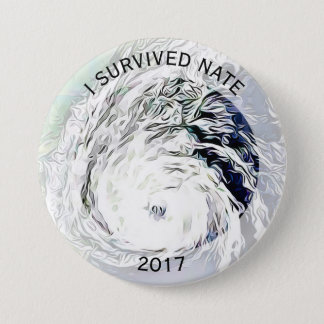 I Survived Nate Hurricane Tropical Storm Button