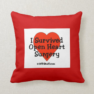 I Survived Open Heart Surgery Pillow Throw Cushion