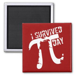 I Survived Pi Day - Funny Pi Day Square Magnet