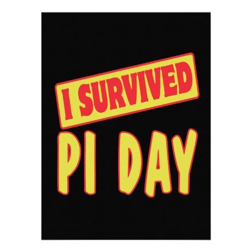 I SURVIVED PI DAY PERSONALIZED INVITE