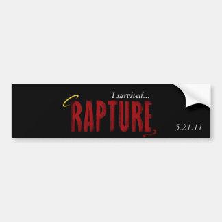 I Survived Rapture 5/21/11 Car Bumper Sticker