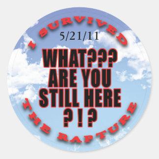 """I survived...rapture"" stickers"