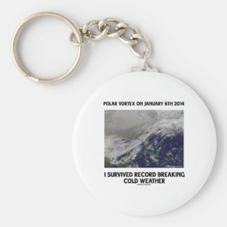 I Survived Record Breaking Cold Weather Keychains