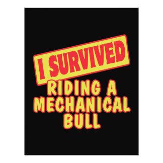 I SURVIVED RIDING A MECHANICAL BULL 21.5 CM X 28 CM FLYER