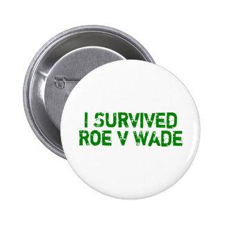 I Survived Roe V Wade 6 Cm Round Badge