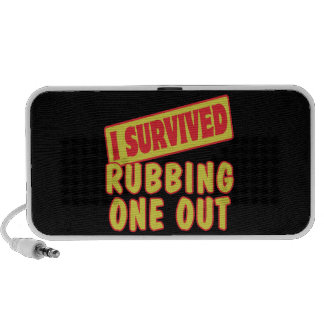 I SURVIVED RUBBING ONE OUT LAPTOP SPEAKER