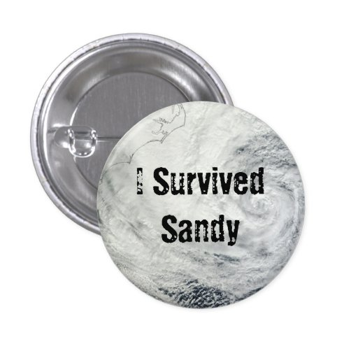 I Survived Sandy Button