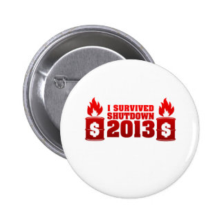 I Survived Shutdown 2013 Buttons